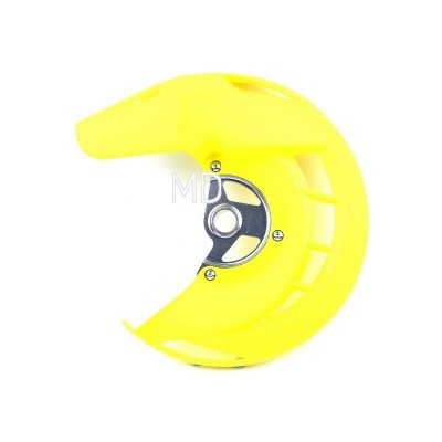 282-FDG04 Front Brake Disc Protector-Yellow RMZ/RMX