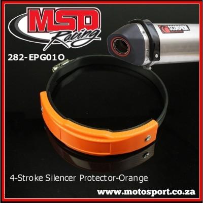282-EPG01O 4-Stroke Exhaust Silencer Guard-Orange