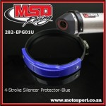 282-EPG01U 4-Stroke Exhaust Silencer Guard-Blue